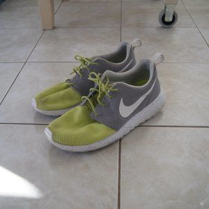 Lime Green and Grey Nike Frees